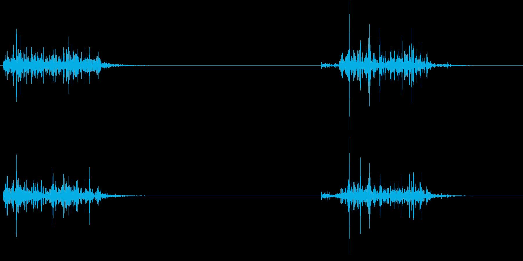 【生録音】洗濯物を干す・衣服をはたく音の再生済みの波形