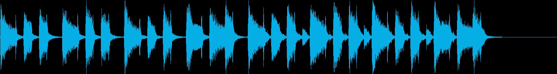 穏やかおしゃれかわいい軽快なボサノバcの再生済みの波形