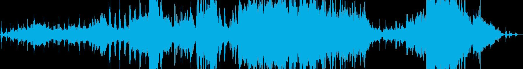 海のイメージの感動的なBGMの再生済みの波形