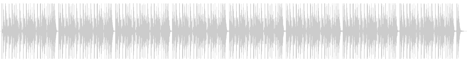 ファンキーなバンドサウンドのBGMの未再生の波形