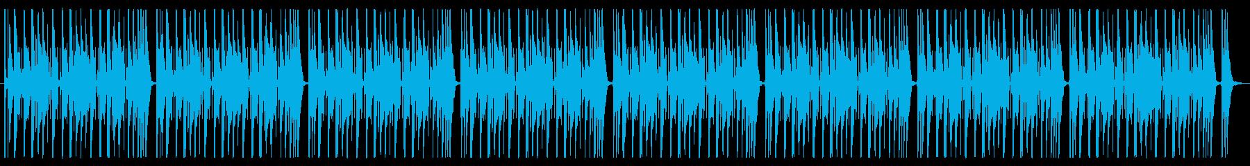 ファンキーなバンドサウンドのBGMの再生済みの波形