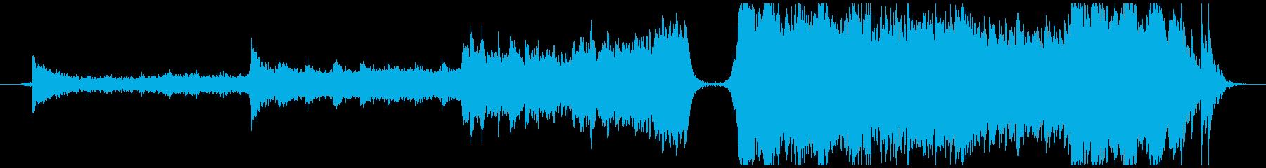エピック系のバトル曲の再生済みの波形
