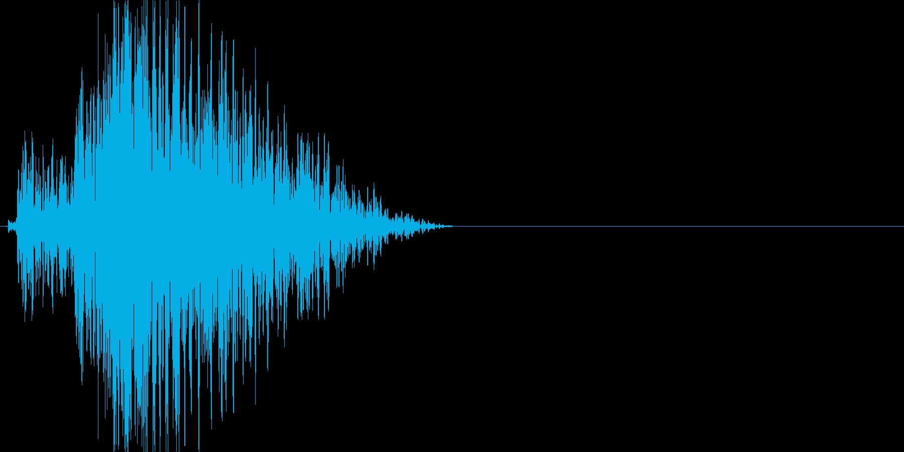 ぐおーん(低め)の再生済みの波形