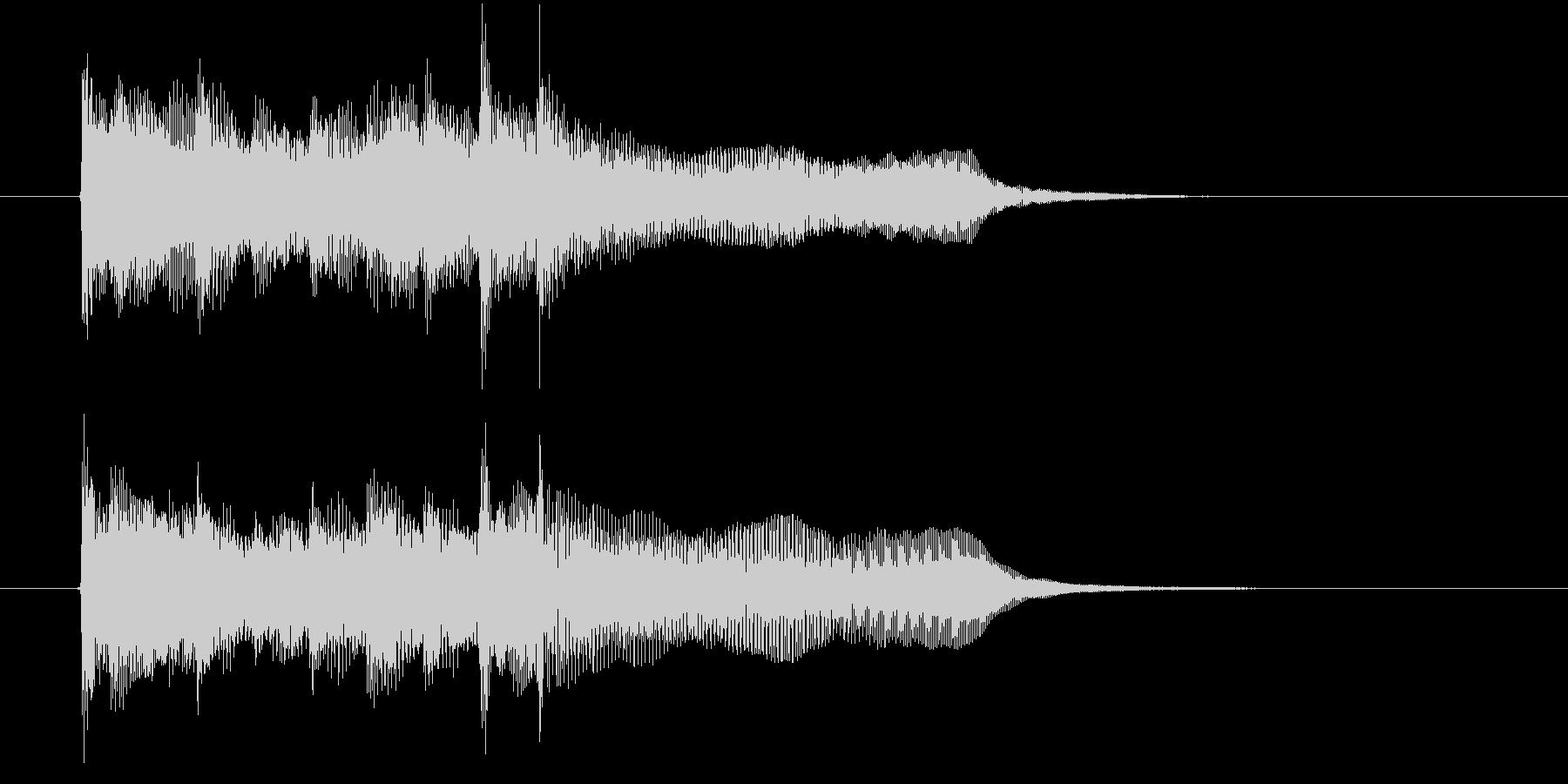 オルガンの様な滑らかで短い曲の未再生の波形