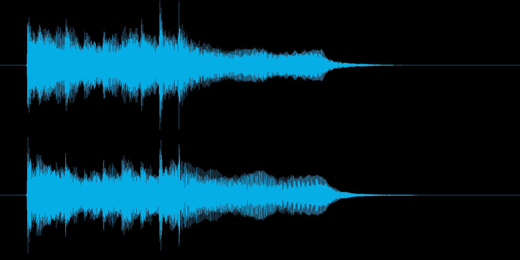 オルガンの様な滑らかで短い曲の再生済みの波形