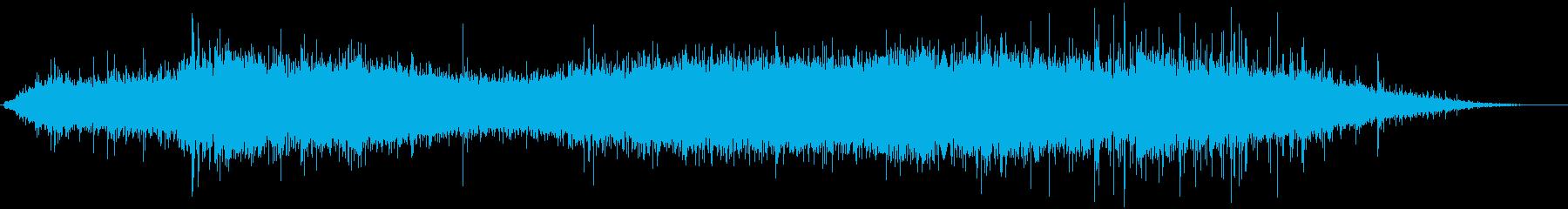 雨の中電車が走る音の再生済みの波形