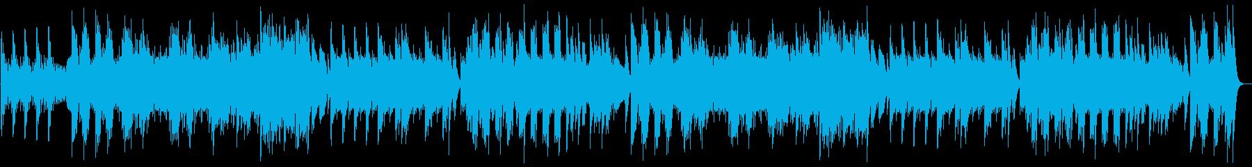 可愛らしいオルゴールの曲の再生済みの波形