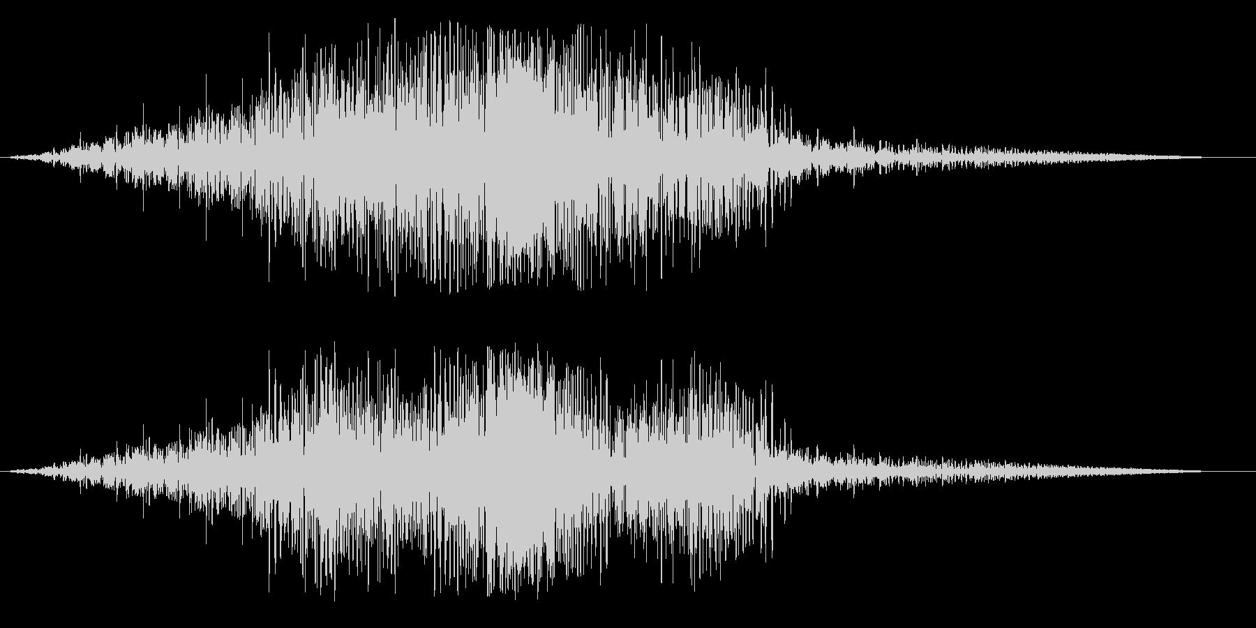 ビヨ〜ン(未知の生物が通り過ぎる音)の未再生の波形