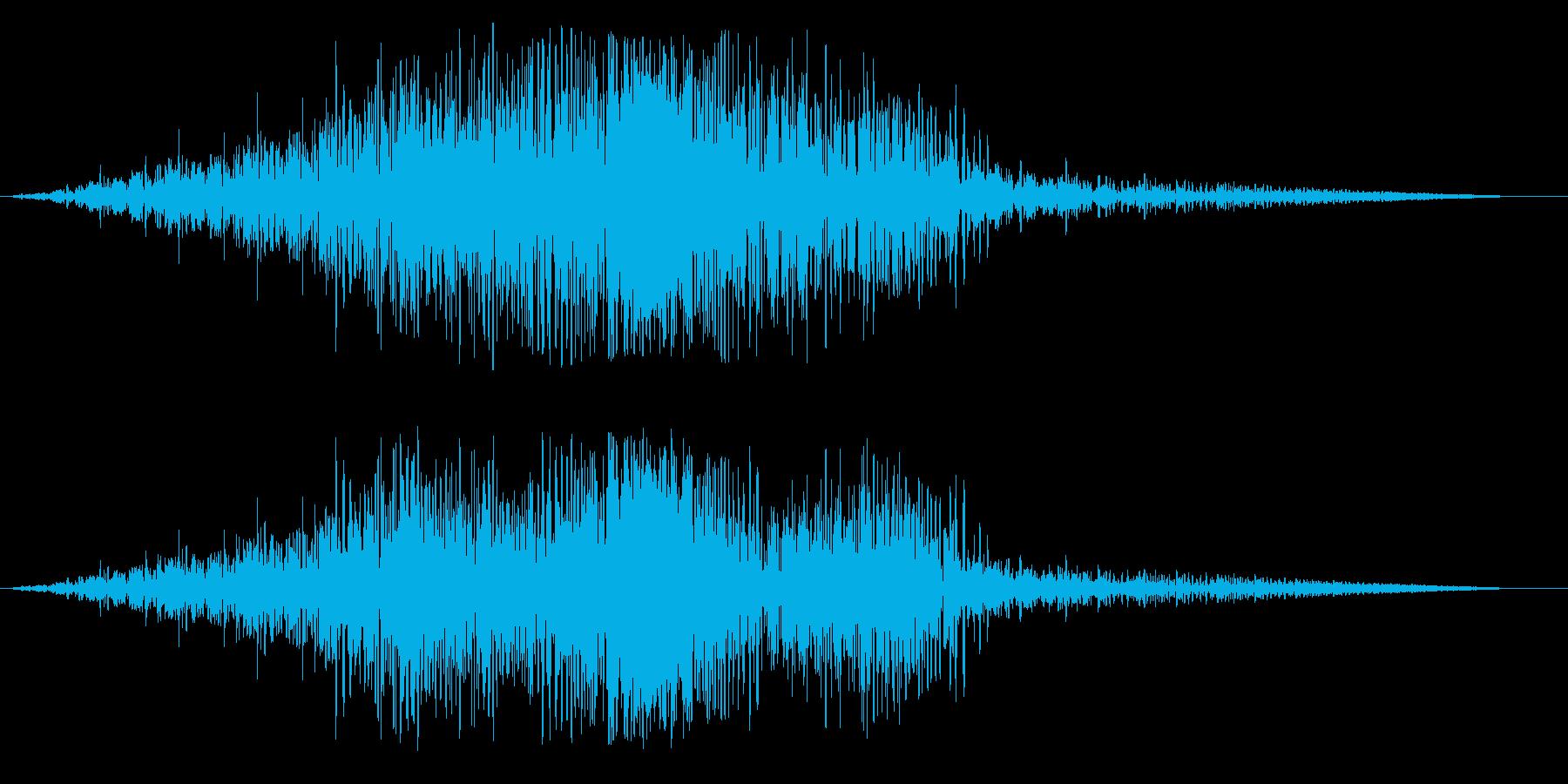 ビヨ〜ン(未知の生物が通り過ぎる音)の再生済みの波形