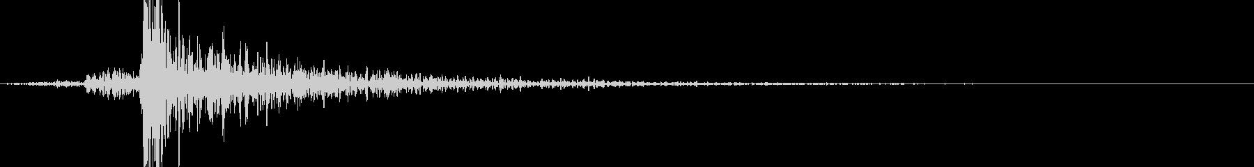 鍵を開ける音の未再生の波形