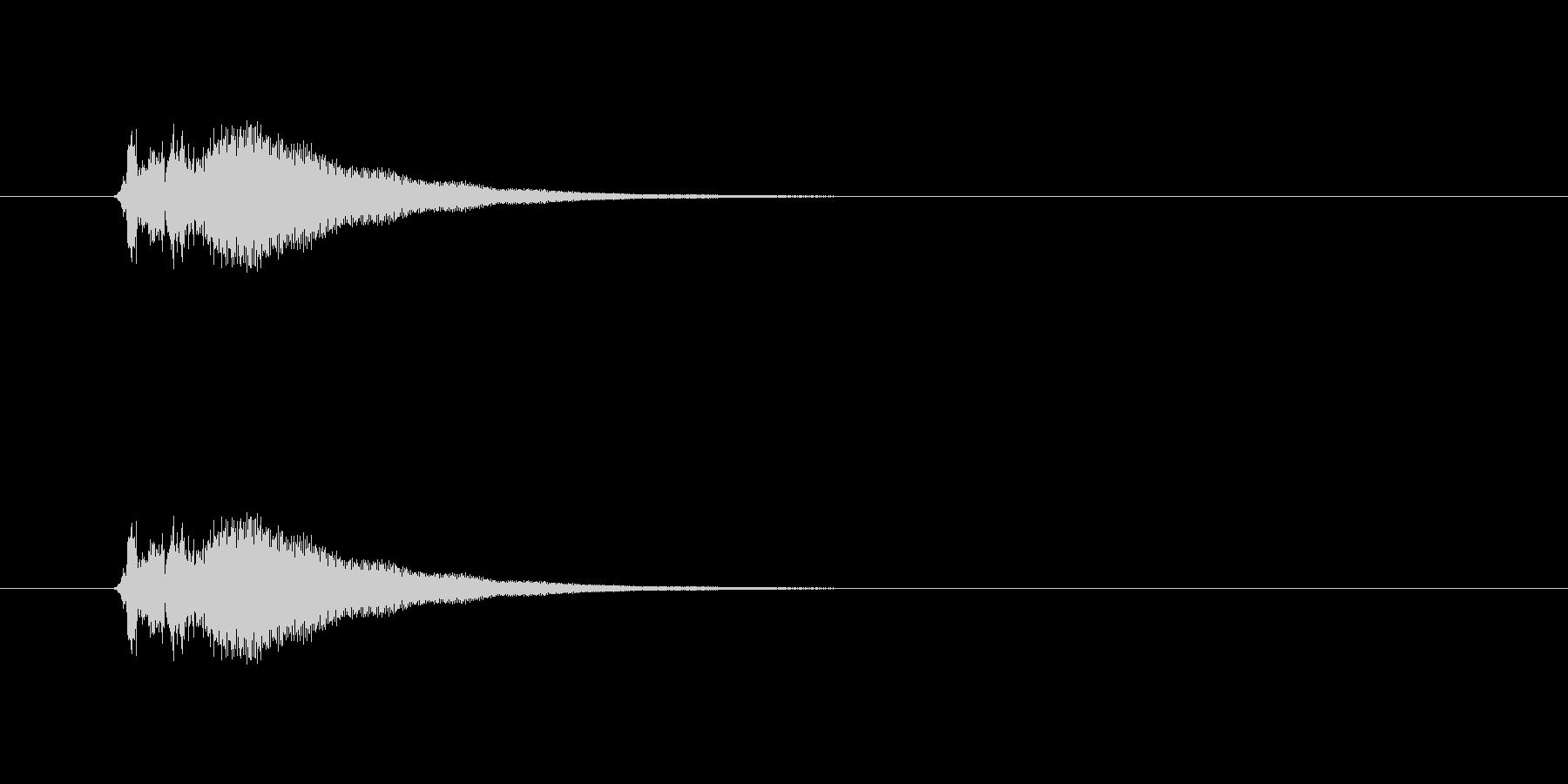 「刀」「シャキーン」の未再生の波形