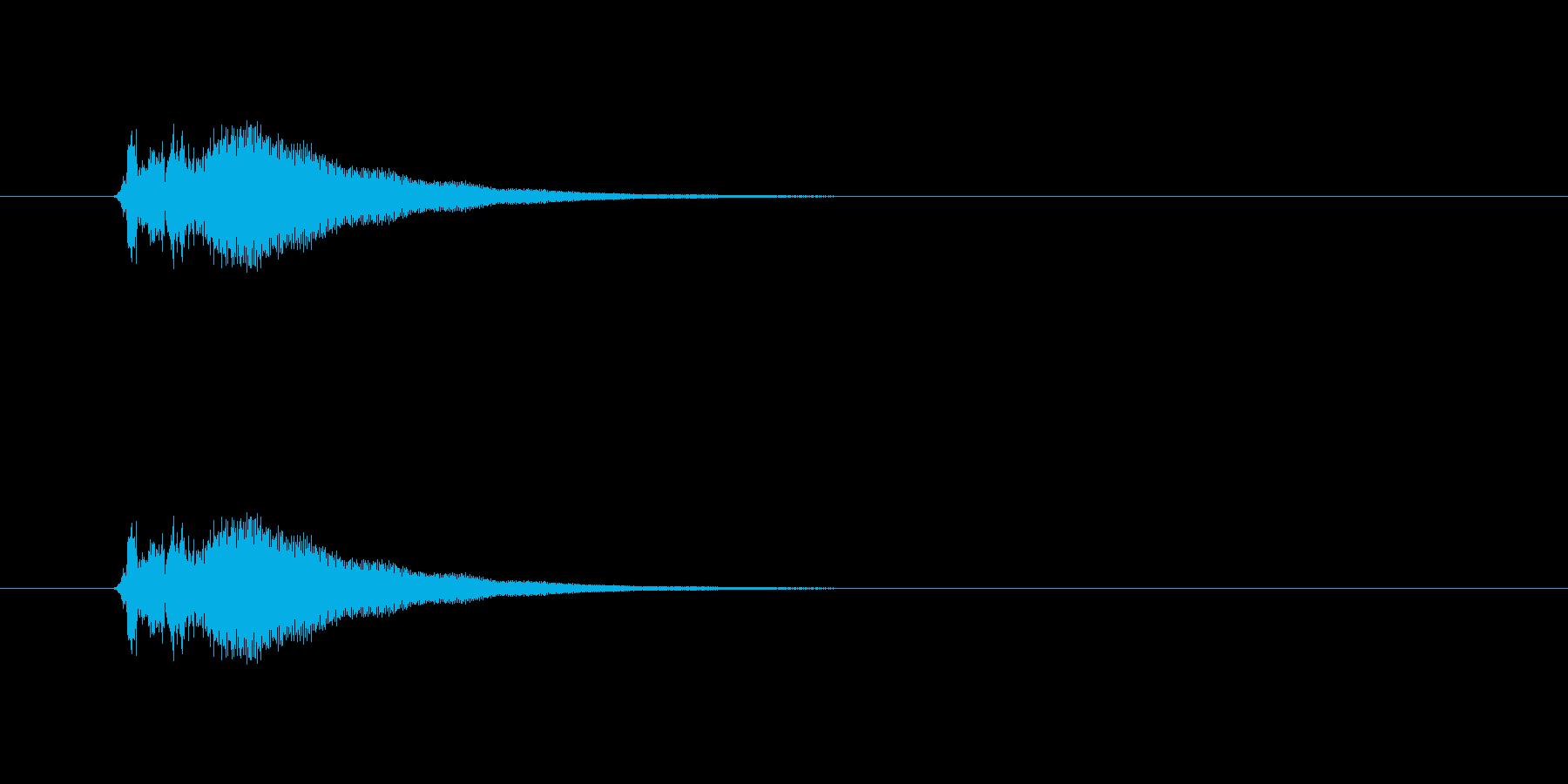 「刀」「シャキーン」の再生済みの波形