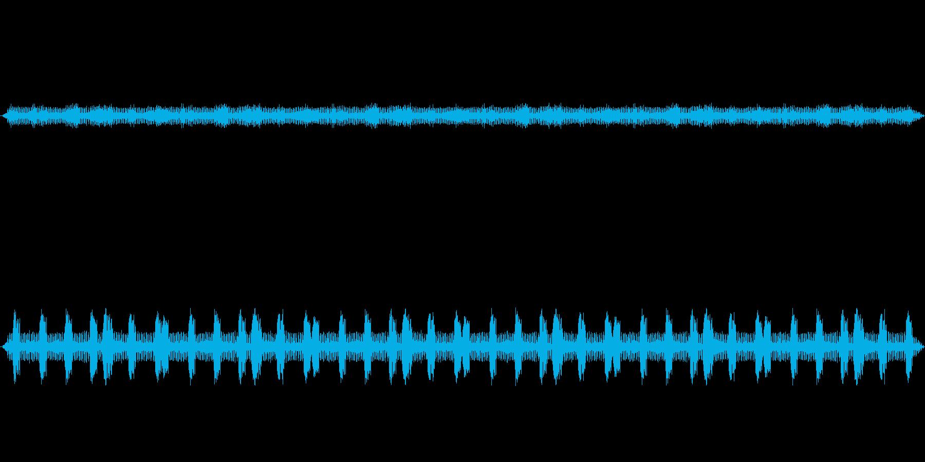 虫の声をバイノーラル録音方式で収音しま…の再生済みの波形
