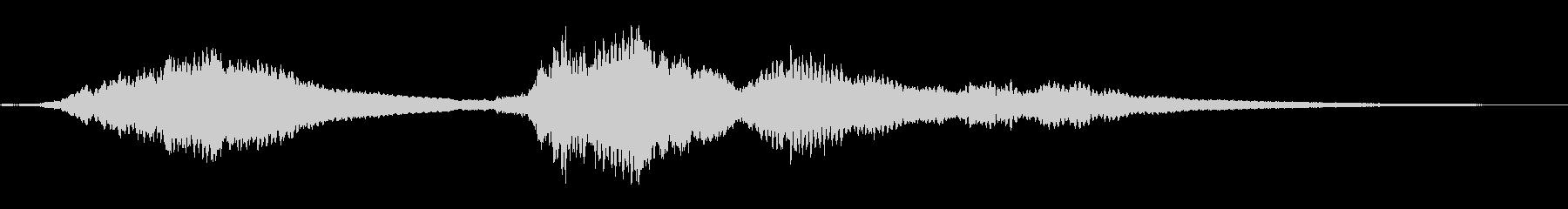 『ドロドロドロ・・』和製ドラの抑揚連打音の未再生の波形
