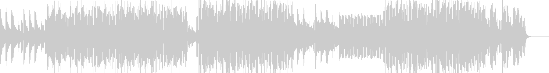妖しげなマイナー調の4つ打ちエレクトロの未再生の波形