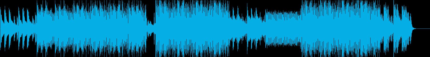 妖しげなマイナー調の4つ打ちエレクトロの再生済みの波形