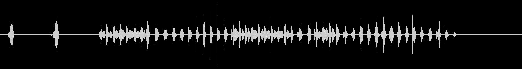 ウッドファイルの未再生の波形