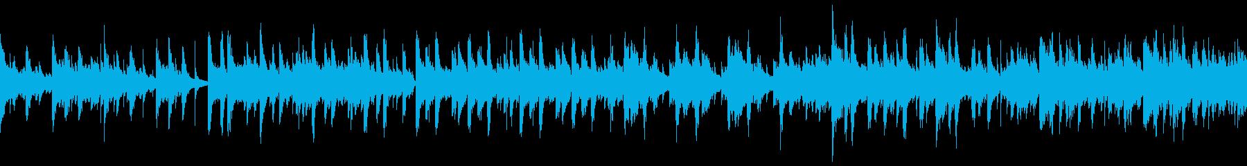 爽やかな雰囲気のポップなBGM(ループ)の再生済みの波形