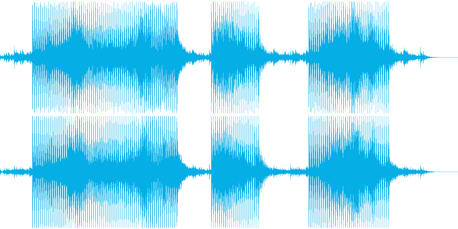 宇宙(膨張)感のあるテクノサウンドの再生済みの波形