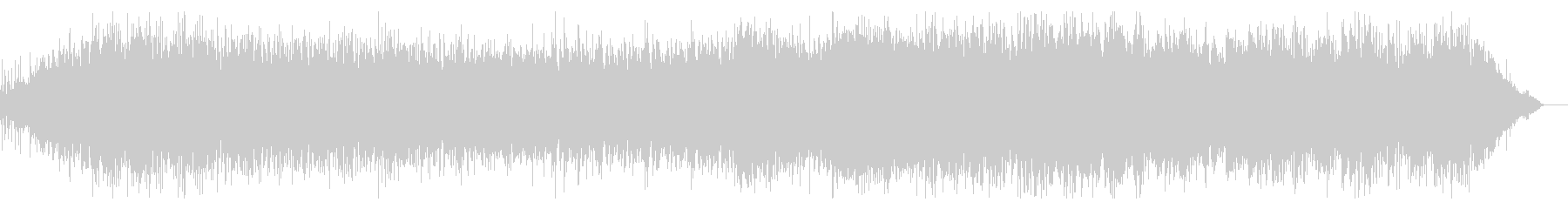デジタルな雰囲気のシネマティックBGMの未再生の波形