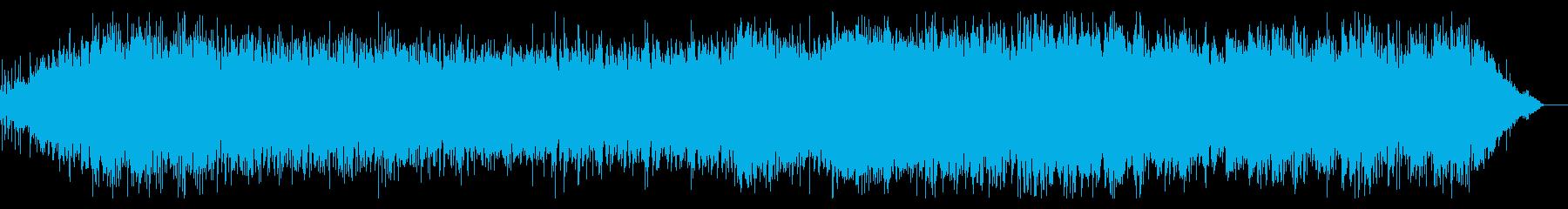 デジタルな雰囲気のシネマティックBGMの再生済みの波形