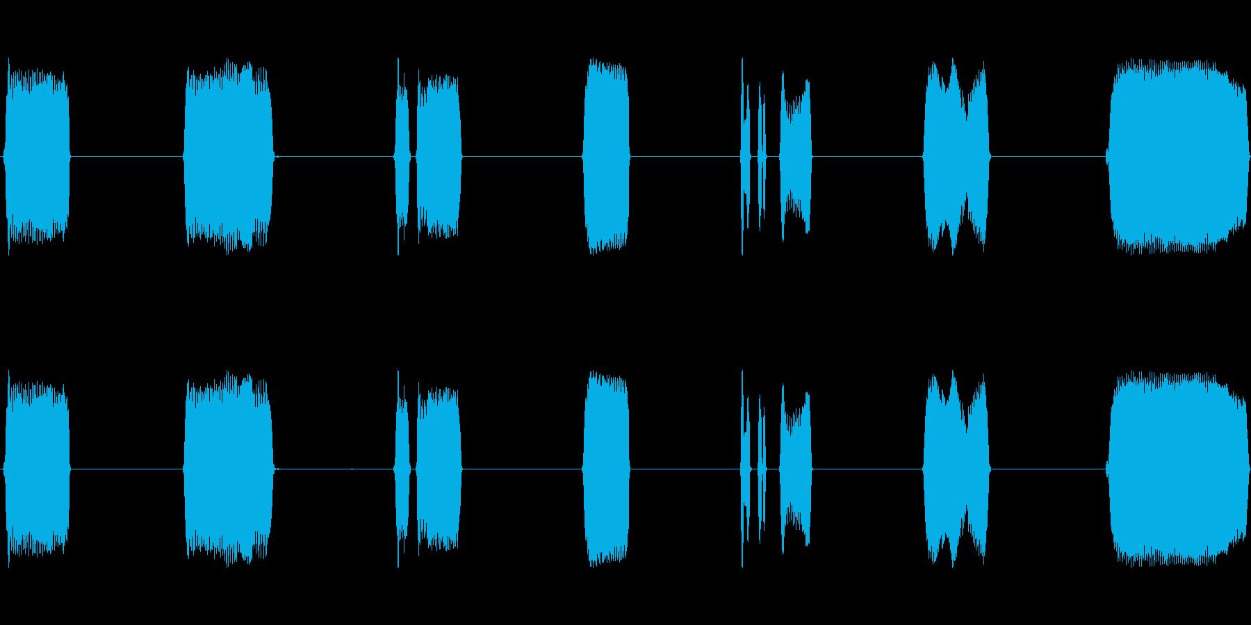 ホイッスルフィールドマルチwavの再生済みの波形
