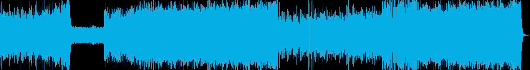 疾走感のあるカッコイイイメージのEDMの再生済みの波形