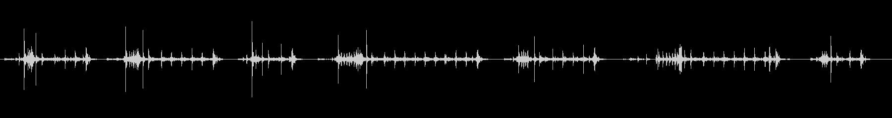 ロータリー電話のダイヤル番号の未再生の波形