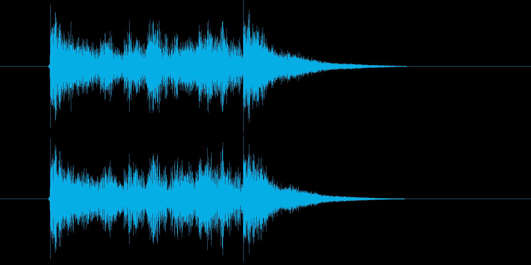 勢いのあるテクノポップの再生済みの波形