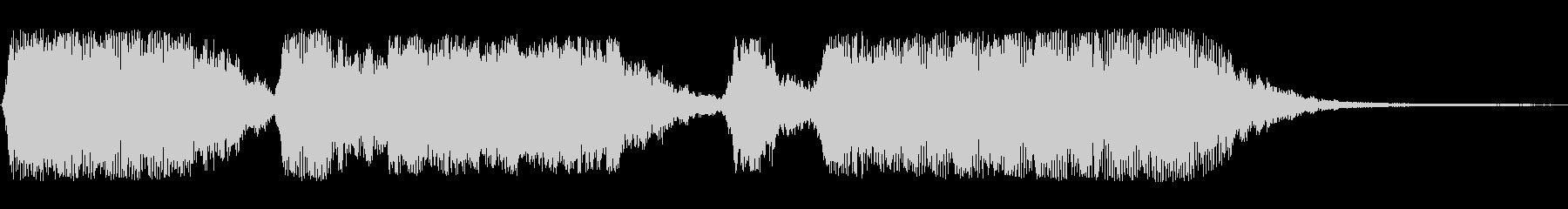 オープニング等シンセサイザーの効果音の未再生の波形