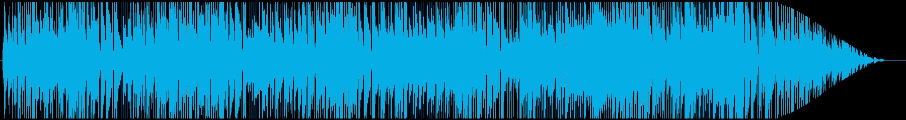 優しいピアノのカフェミュージックの再生済みの波形