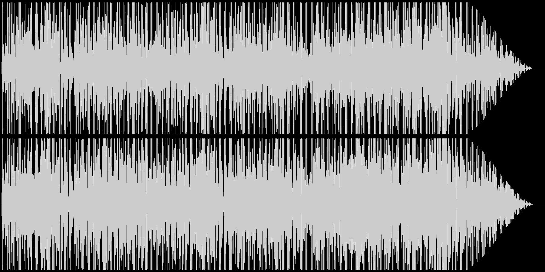優しいピアノのカフェミュージックの未再生の波形