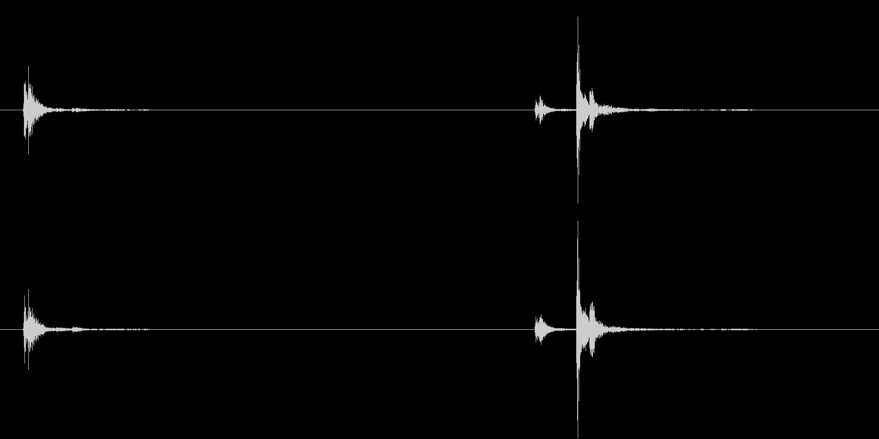 【生録音】お箸の音 19 手の中で当たるの未再生の波形