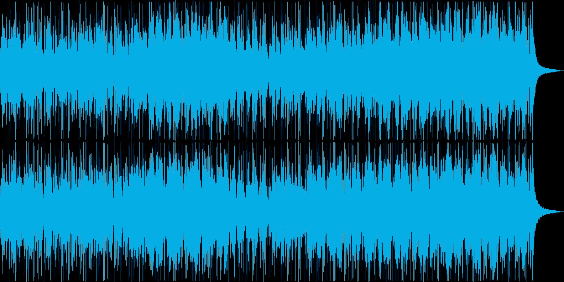 鼓と琴と落ち着いた尺八が和風なポップスの再生済みの波形