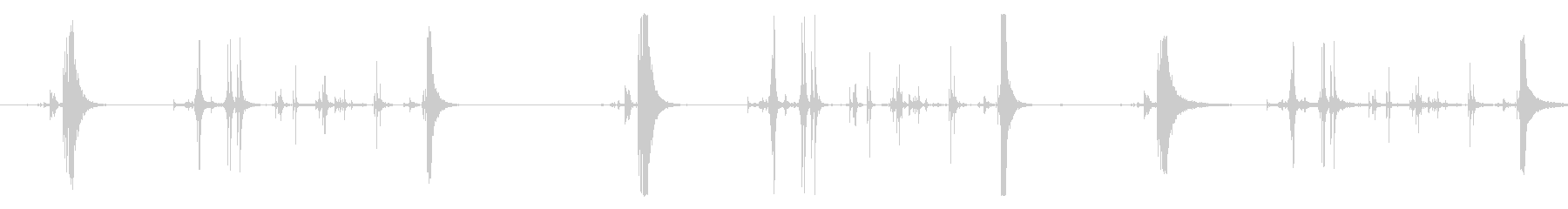 クリンクス、メタリック、3部屋。 ...の未再生の波形