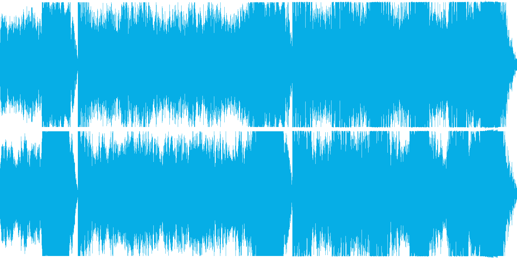 迷宮を探索しているようなシンセ曲の再生済みの波形