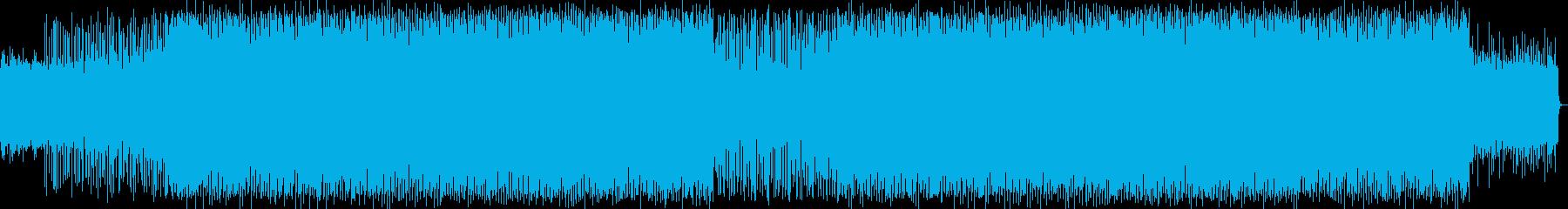 楽しいアップテンポのシンセサイザーの曲の再生済みの波形