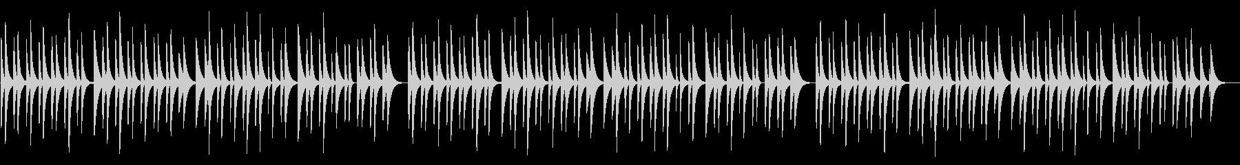 仰げば尊し 18弁オルゴールの未再生の波形