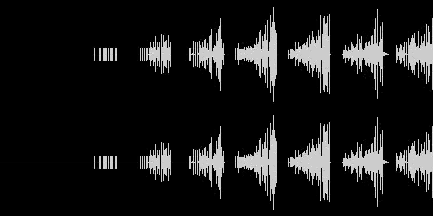 連続音(連打・連射)の未再生の波形