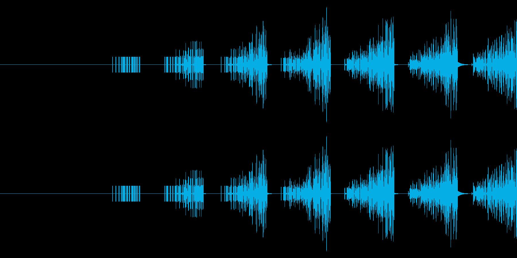 連続音(連打・連射)の再生済みの波形
