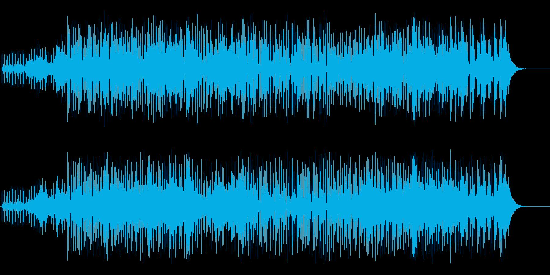クラブ・シーンのクールなハウス/テクノの再生済みの波形