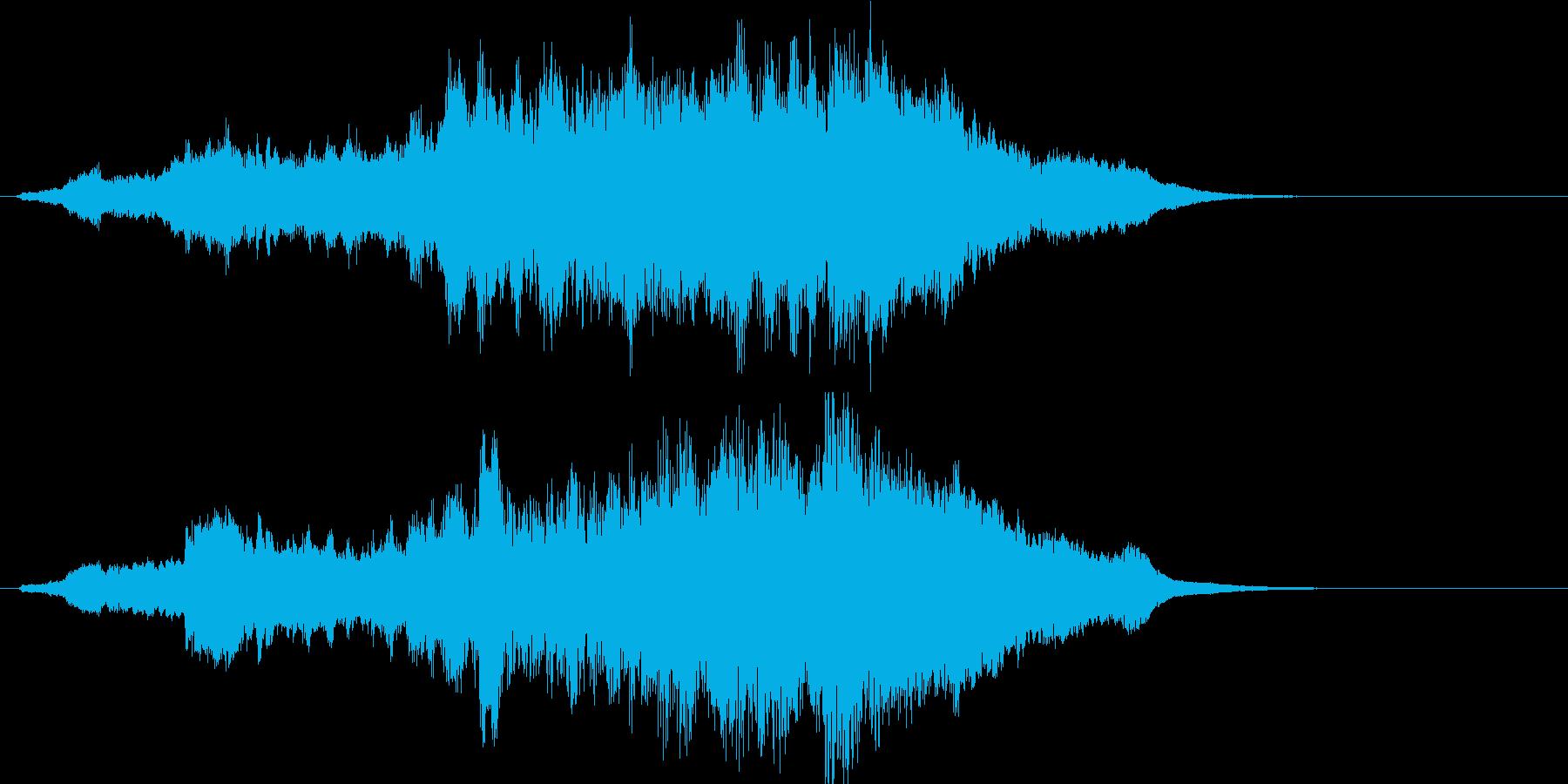 ハリウッド系ファンタジーのジングルの再生済みの波形