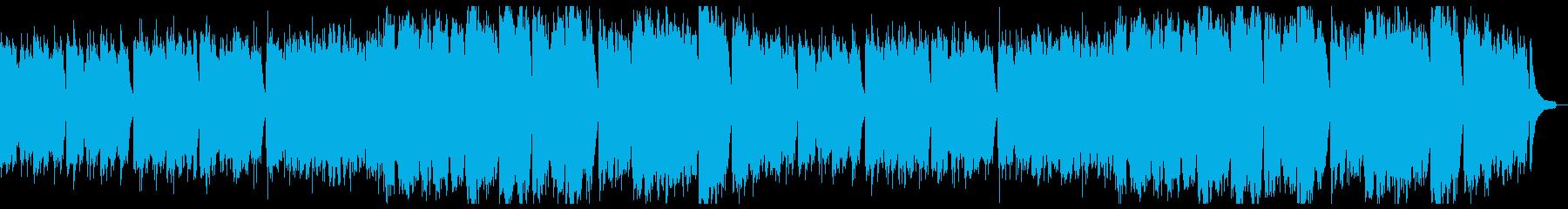 優しく温和なピアノと弦:フル2回の再生済みの波形