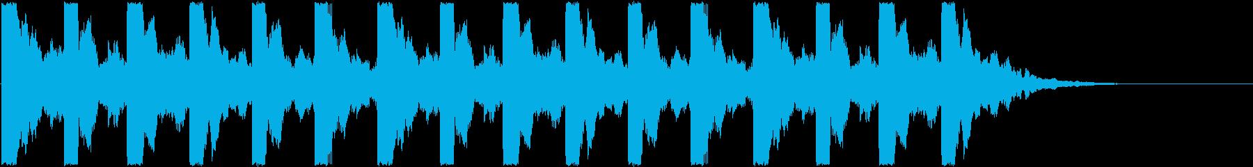 恐怖、ホラーの演出(キッキッキッキッ)3の再生済みの波形