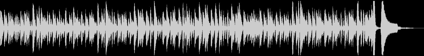 ラグタイム風の軽快なピアノソロジングルの未再生の波形