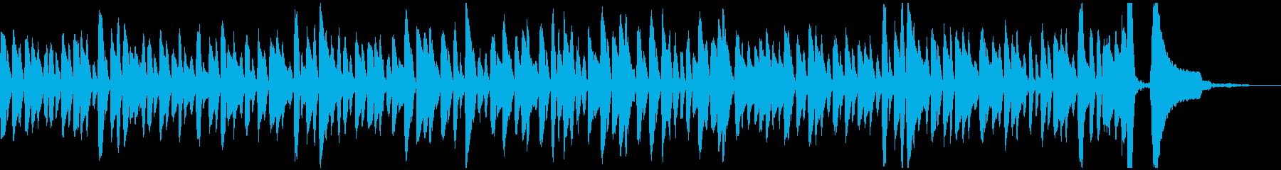 ラグタイム風の軽快なピアノソロジングルの再生済みの波形