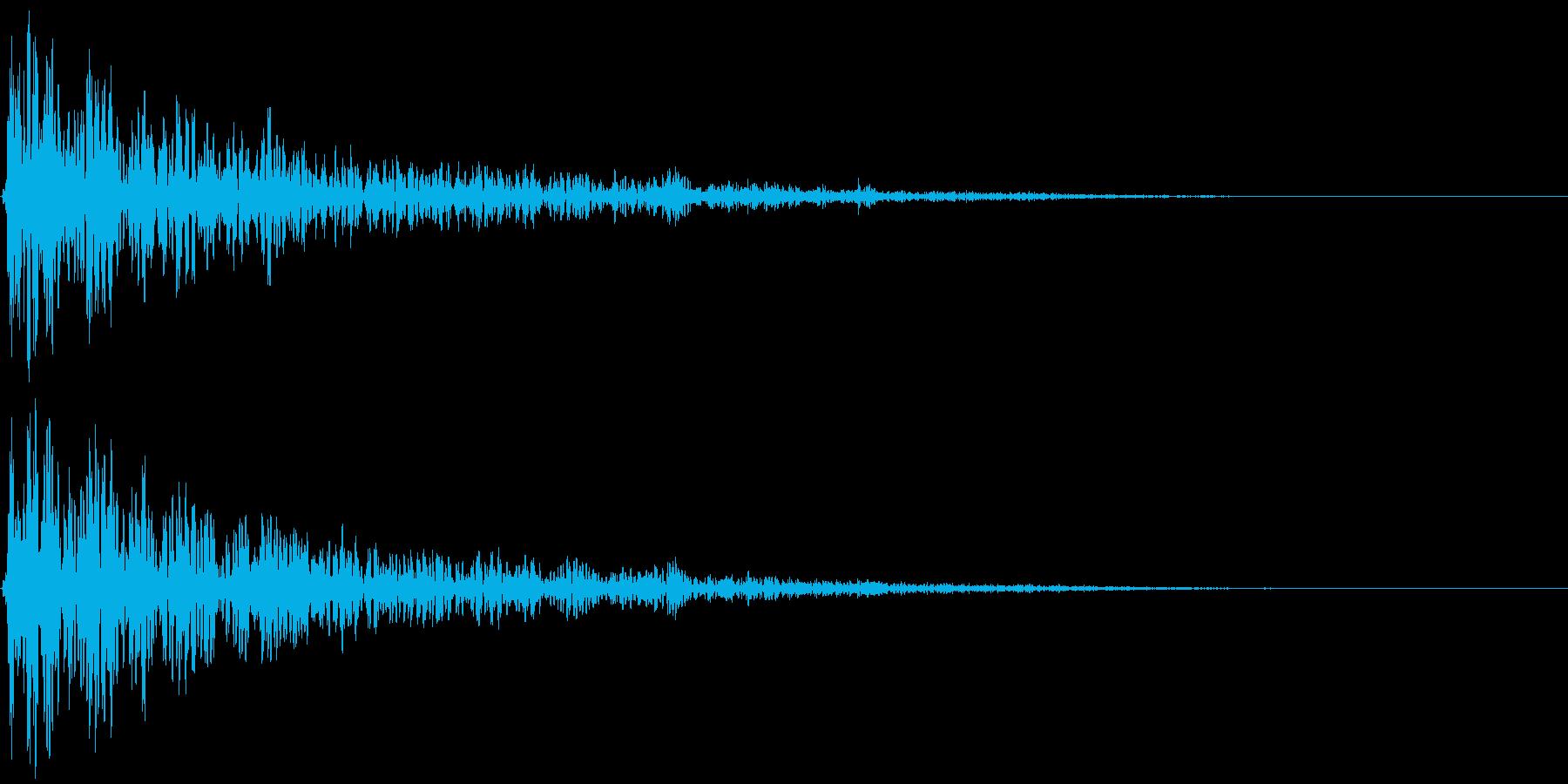 【衝撃音】かんっっっ!の再生済みの波形