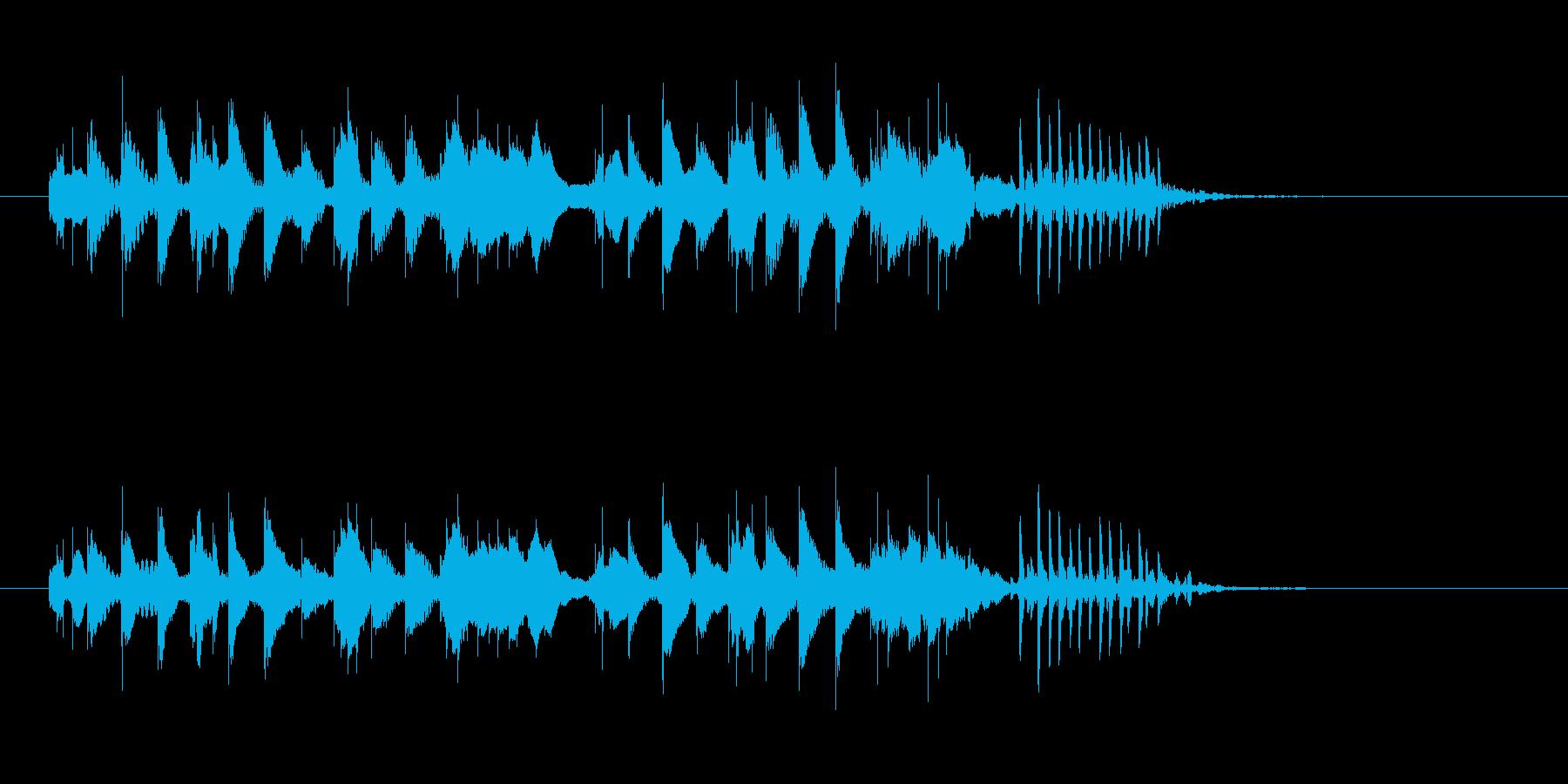 軽やかな木琴打楽器音(ジングル、転換)の再生済みの波形