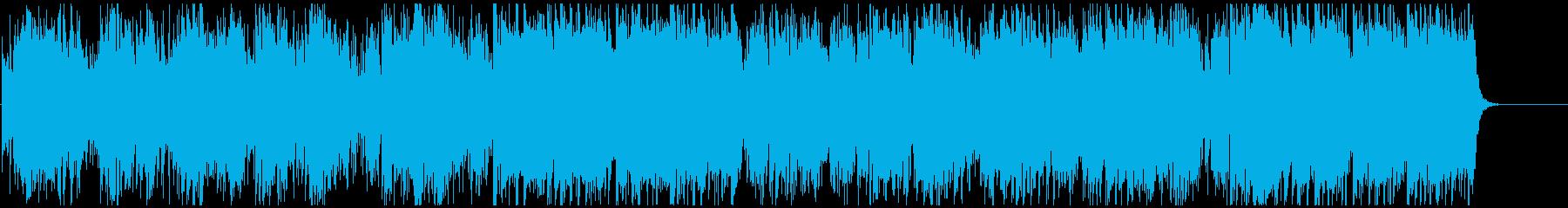 生演奏ソプラノSaxの穏やかフュージョンの再生済みの波形