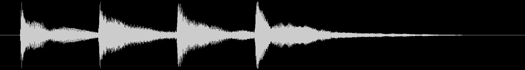 アナウンス上昇速さ普通 モダンなサウンドの未再生の波形